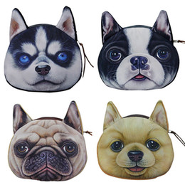 Wholesale Dogs Cosmetic - Wholesale- 2015 Cute Dog Face Zipper Case Wallet Makeup Cosmetic Bag Card Keys Pouch Coin Purse 6O11