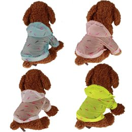 Wholesale Medium Dresses Long Sleeve - Pet Dog Raincoat Sun Protection Skirt Hat Pet Clothes Outwear Cute Breathable Thin Waterproof long Sleeves Casual Clothes