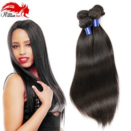 Wholesale One Bundle Malaysian Straight Hair - Hannah Malaysian Virgin Hair Straight one bundle 100 gram 10-26 Inches Nature Color Unprocessed 100% Human Hair Weave Bundles