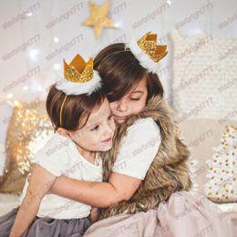 Wholesale Kids Feather Headdress - Baby Girls Children Toddler Crown Birthday Holiday Headdress Cute Fake Feather Headband Kids Hair Band Girls Headbands