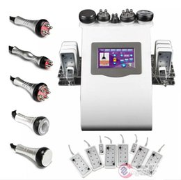 Wholesale Lipo Fat Laser - 6-1 Cavitation Vacuum Fat Removal Tripolar RF Skin Care 650nm Diode LLLT Lipo Laser Body Shaping Slimming Machine