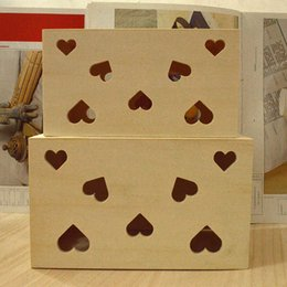 Wholesale Small Wood Crafts - Wood Small Wooden Box Wooden Tissue Box Case Holder Home Decor Storage Box Wedding Table Gift Crafts