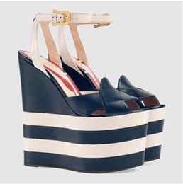 Wholesale Sexy Peep Toe Flat Sandal - New sandalias plataforma summer shoes chaussure femme talon scarpe donna tacco alto sexy wedges shoes for women Peep Toe sandals