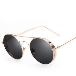 Wholesale Sunglasses Cheap Pilot - Reedy Meng brangds fashion sunglasses for men and womens metal frame side shielad trends Outdoor beach round glasses Cheap wholesalehot sale