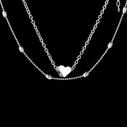 Wholesale forever pendants - Forever Love Heart Pendant Necklace Silver Gold Chain Multilayer Chokers Collars Women Fashion Jewelry gift Drop Shipping