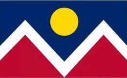 Wholesale usa cities - USA Colorado Denver city Flag 3ft x 5ft Polyester Banner Flying 150* 90cm Custom flag outdoor
