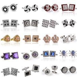 2019 Yeni Klasik Kristal Kol Düğmeleri Erkek Kadın Kol Düğmeleri Gümüş Kaplama Emaye Gömlek Fransız Kol Düğmeleri Düğün Takı Için Hediye nereden