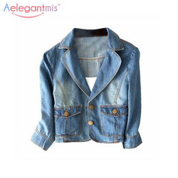 Wholesale Jeans Jacket Cool - Wholesale- Special Offer Aelegantmis Vintage Denim Jackets Short Style Women High Quality 100% Cotton Washed Jeans Coat Jackets Cool