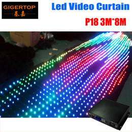 Wholesale Choose Computer - P18 19 20 To Choose 3M*8M Fire-proof Led Video curtain 30 Kinds Program Led Graphic curtain Stage Lighting Computer DMX Control