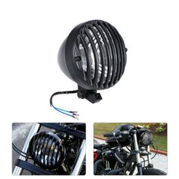Wholesale aluminium castings - Universal 6.3 Inch Motorcycle Headlight Full Aluminium Heavy Duty Cast for Harley Cafe Racer Motorcycle Headlight Led