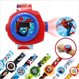 Wholesale Styles Children Photos - 2017 New Kids Watch 20 Different 3D Photos Showing Cartoon Style Children Projection Watch , DHL free shipping