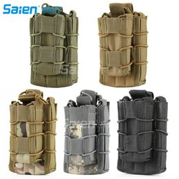 Wholesale Pistol Clips - MOLLE Tactical Open Top Double Decker Single Rifle Pistol Mag Pouch Cartridge Clip Pouch Hunting Bag