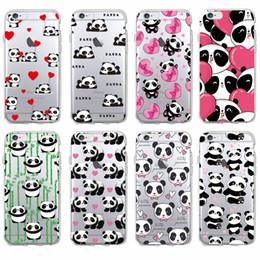 Wholesale Cute Animal Phone Cases - Cute Panda Heart Lover Cartoon Animal Soft Phone Case for iPhone 7 7Plus 6 6S 6Plus 5 5S SE 5C 4 4S SAMSUNG