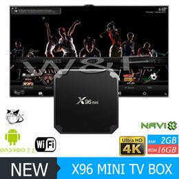 Wholesale Hdmi Iptv Player Quad Core - 2017 HOTTEST X96 mini Android7.1 TV BOX 2GB 16GB Amlogic S905W Quad Core Media Player IPTV Box VS X96 2GB MXQ PRO
