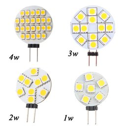 Wholesale Led Spotlight G4 - Big Promotion G4 LED Lamp 1W 3W 4W 5W 5050 SMD Spotlight Corn Bulb Car Boat RV Light Cool White Warm White DC12V