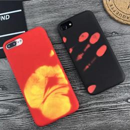 Capas protetoras bonitas do telefone on-line-Caso de telefone de indução térmica de luxo para iphone X XR XS MAX 8 7 6 6 s plus emaranhado PC rígido mudando de cor Capa protetora capa bonito GSZ297