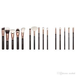Wholesale Cheap Professional Make Up Brushes - cheap zoeva 15 pcs makeup brush set rose golden professional brush for face eyes shadow eyebrow concealer cosmetics kit make up tool