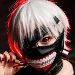 2019 máscara de anime tokyo ghoul Hot Tokyo Ghoul 2 Máscara Kaneki Ken Máscara de Zíper Ajustável Blinder Anime Cosplay Halloween Máscara de Couro PU Legal desconto máscara de anime tokyo ghoul