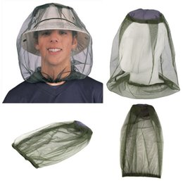 Wholesale protector hat - Midge Mosquito Insect Hat Bug Mesh Head Net Face Protector Travel Camping