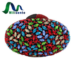 Wholesale Pp Colorful Flowers - Wholesale- Milisente Women Evening Bag Ladies Colorful Clutches Female Crystal Party Bags