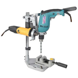 Wholesale Drill Based - Dremel Electric Drill Stand Power Rotary Tools Accessories Bench Drill Press Stand DIY Tool Double Clamp Base Frame Drill Holder