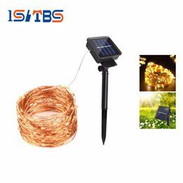 Wholesale Mushroom Garden Decor - 10M 20M Solar Power holiday light LED Copper Wire String lamp Fairy Outdoor light Decor indoor holiday Garden Lawn wedding Party