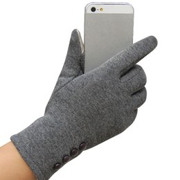 Wholesale Womens Winter Mittens - Wholesale- 2017 Gloves 5 Colors Fashion Womens Touchscreen Winter Warm Gloves Screen Gloves Long Mittens For Phone