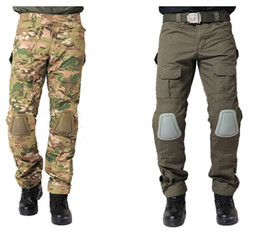 Wholesale Urban Canvas - Urban Tactical Pants with knee pads Removable Men's Airsoft Military Combat Assault Outdoors Sportswear SWAT Army Trousers