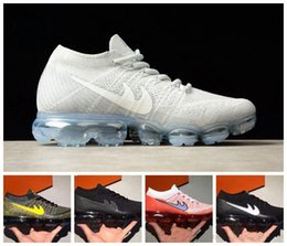 Wholesale Mens Sports Shoes Sneakers - 2017 New Men Arrival VaporMaxes Mens Shock Racer Running Shoes For Top quality Fashion Casual Vapor Maxes Sports Sneakers Trainers..