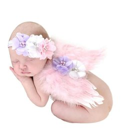 Wholesale Wholesale Feather Wings - Angel wings Feather wings Baby photography props Children with pink wings The new Europe and the United States handmade children angel feat