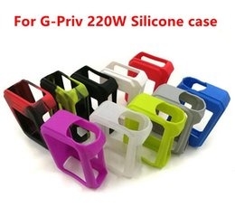 Wholesale Sleeve Boxes - Colorful Smok G-Priv Silicone Case Protective Sleeve Cover for Smok G-PRIV 220W Box Mod High quality Colorful Rubber Sleeve Protective Cove