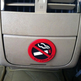 Wholesale car door signs - 3pc Rubber NO SMOKING Sign Tips Warning Logo Stickers Car Taxi Door Decal Badge Glue Sticker Promotion