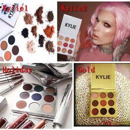 Wholesale Eyeshadow Palette Set Kit - IN STOCK!! Kylie Cosmetics Jenner Kyshadow eye shadow Kit Eyeshadow Palette Bronze Preorder Cosmetic 9 Colors set 4 Types Free Shipping