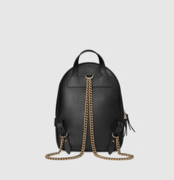 Wholesale Phone Backpack - New women chain fashion casual Backpack style bag lady double shoulder handbag black red color no128