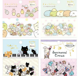 Wholesale San X Wholesale - Wholesale- 80 pcs pack San-X Animals Sealing Stickers Diary Label Stickers Pack Decorative Scrapbooking DIY Stickers