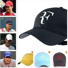 Wholesale Balls For Tennis - Federer Tennis Hat Fitted Baseball Hats Summer Men Baseball Cap Cotton Hunting Hat Outdoor New York Sports Hats for Men Flat Hat Fashion