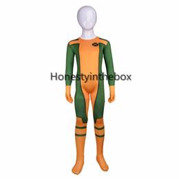 Wholesale Kids Lycra Bodysuit - Can Be Custom Green and Yellow Lycra Spandex Full body Zentai Suit Kids Superhero Cosplay Bodysuit For Halloween