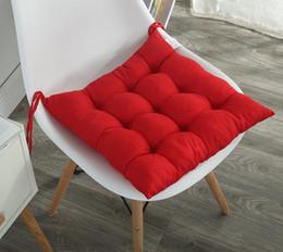 Wholesale Decubitus Mattress - 40*40cm Solid color thicker cushion winter chair cushion tatami mattress square mattress Pillow chair cushion warm