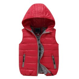 Wholesale Kid Girl Winter Coats - New Fashion The North Baby Girls Boys Clothes Down Vests Waistcoat Children Down Jacket Hooded Vest Kids all-match Face Coat