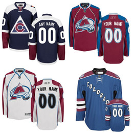 Wholesale Discounted Hockey Jerseys - Discount Hockey Jerseys Colorado custom Colorado Avalanche Avalanche Jersey, Personalized Ice Hockey Jerseys Stitched Logo Mix Order