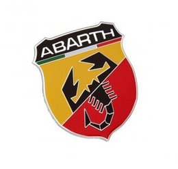 Wholesale Emblem Abarth - 3D Car Sticker Aluminum alloy Badge Emblem Sticker For Abarth 80x30mm 100x24 60x53mm available