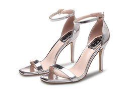 Ms fersen online-MS Frauen Sandalen Plus Größe 34- 39 Schnalle Sommer Schuhe Frau Mode High Heels Gladiator Sandalen Frauen Alias