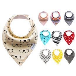 Wholesale Cute Scarf Ties - 48 Styles 4Pcs Lot Baby Bibs Colorful Print Cute Cotton Soft Bandana Saliva Towel Newborn Triangle Scarf Infant Burp Cloths ins Hot