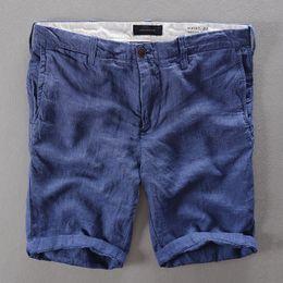 Wholesale Flax Pants Xl - Wholesale- French Casual Mens Shorts Brand Short Pants Men Fashion Short Trousers Men Shorts Linen Clothing 29-38 Size Flax Pantalon