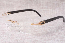 Wholesale Wheel Black 18 - Hot-selling quality luxury wheel frame 8100903 Natural black glasses fashion personalized leisure Men and women glasses Size: 54-18-140mm