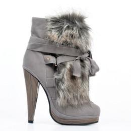 schuhe high heels 13cm Rabatt Kolnoo Womens Fashion Handmade 13cm High Heel Winter Stiefel Kreuz Band Party Prom Schuhe Grau XD123