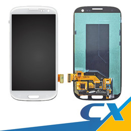 Wholesale Galaxy S3 Digitizer Repair - Repair New Original For Samsung Galaxy S3 i9300 i747 T999 i535 R530 L710 LCD Touch Screen Digitizer Replacements With Frame Free Shipping