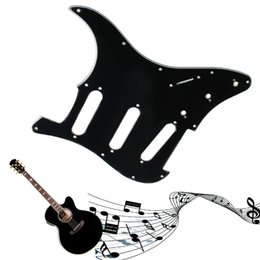 Wholesale Electric Guitar Scratch Plates - Wholesale- 1PC 3 Ply Electric Guitar Pickguard Scratch Plate For Strat Stratocaster Black Guitar Parts