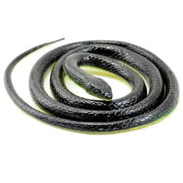 Cobra de brinquedo de borracha on-line-Atacado-130cm Realistic Rubber Snake Toy Jardim Props Joke Prank Presente Selvagem Réptil Kid