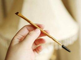 Wholesale New Bamboo Set - NEW Tarte Shape Shifter Double-Ended Bamboo Brow Brush Professional Makeup tools eyebrow brush + eyebrow comb make up brush NAKED KYLIE KOKO
